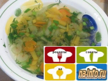 овощной суп на мясном бульоне рецепт